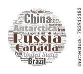 100 biggest countries word... | Shutterstock .eps vector #783913183