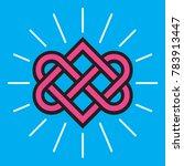 celtic love knot vector design. ... | Shutterstock .eps vector #783913447