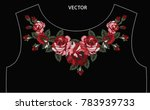 flower embroidery graphic for t ... | Shutterstock .eps vector #783939733