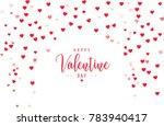 happy valentine day background... | Shutterstock .eps vector #783940417