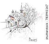vector scenic city sketch  view ... | Shutterstock .eps vector #783941167