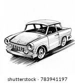 retro east german car  black... | Shutterstock . vector #783941197