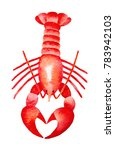 Red Lobster Watercolour...