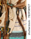 Small photo of American Indian. Decoration. Belt. Ethnic.