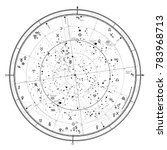 astrological celestial map of...