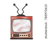 old radio stereo | Shutterstock .eps vector #783972613