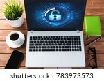 business workplace with office... | Shutterstock . vector #783973573