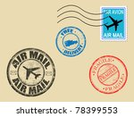 set of postage symbols  vector... | Shutterstock .eps vector #78399553