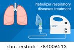 nebulizer treatment therapy... | Shutterstock .eps vector #784006513