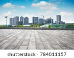 city park under blue sky with... | Shutterstock . vector #784011157