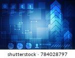 2d rendering stock market... | Shutterstock . vector #784028797