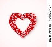 lovely heart frame from small... | Shutterstock .eps vector #784029427