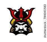 shogun a japanese mask and...   Shutterstock .eps vector #784041583
