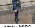 scottish bagpipe player | Shutterstock . vector #784059853