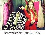 portrait of one sexual pretty...   Shutterstock . vector #784061707