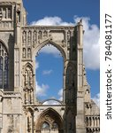 Small photo of A view of the remains of Crowland Abbey, Lincolnshire, United Kingdom - 27th April 2013