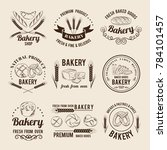monochrome set of bakery shop... | Shutterstock . vector #784101457
