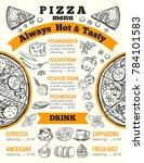design template for pizzeria...   Shutterstock . vector #784101583