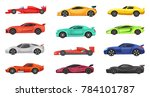 different sport cars isolated... | Shutterstock . vector #784101787
