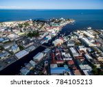 belize cityscape with... | Shutterstock . vector #784105213