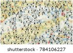 Illustration Of Large Crowd Of...