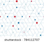 geometric grid with intricate... | Shutterstock .eps vector #784112707