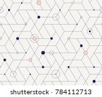 geometric grid with intricate... | Shutterstock .eps vector #784112713