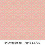 geometric grid with intricate... | Shutterstock .eps vector #784112737