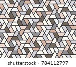 geometric grid with intricate... | Shutterstock .eps vector #784112797