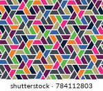 geometric grid with intricate... | Shutterstock .eps vector #784112803