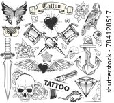 illustration of tattoo art... | Shutterstock .eps vector #784128517