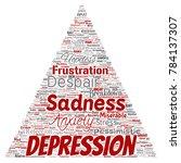 vector conceptual depression or ...   Shutterstock .eps vector #784137307