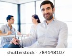young man in casual in office | Shutterstock . vector #784148107