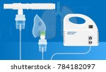 nebulizer treatment therapy... | Shutterstock .eps vector #784182097