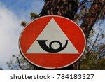 Small photo of Italy: Signal road (Obligation to stop crossing by courier on mountain roads).