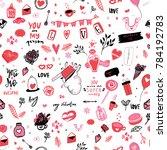 tender pink valentine seamless... | Shutterstock .eps vector #784192783