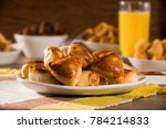 brazilian snack. meat esfiha... | Shutterstock . vector #784214833
