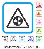 ripple warning icon. flat gray...