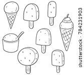 vector set of ice creams | Shutterstock .eps vector #784231903