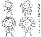 vector set of flowers | Shutterstock .eps vector #784236067