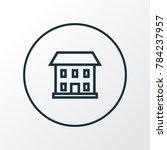 home icon line symbol. premium... | Shutterstock . vector #784237957