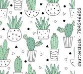 vector seamless pattern of... | Shutterstock .eps vector #784246603