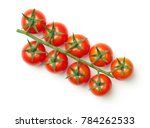 cherry tomatoes on branch... | Shutterstock . vector #784262533