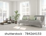 idea of white minimalist room...   Shutterstock . vector #784264153