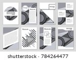 abstract vector layout... | Shutterstock .eps vector #784264477