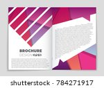 abstract vector layout... | Shutterstock .eps vector #784271917