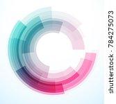 geometric frame from circles ... | Shutterstock .eps vector #784275073
