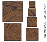 realistic wooden textured set... | Shutterstock . vector #784287487
