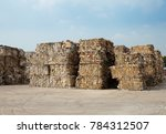 paper and cardboard at recycle... | Shutterstock . vector #784312507