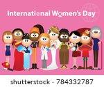 women's day  international... | Shutterstock .eps vector #784332787
